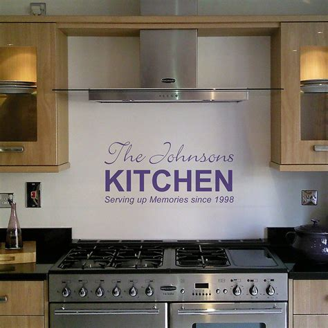 kitchen wall personalised kitchen wall sticker by nutmeg
