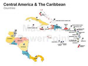 americas map editable ppt slides