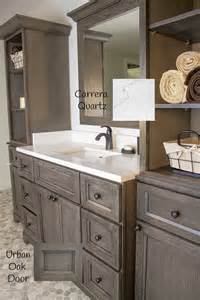 Quality One Cabinets Urban Oak Stonewood Bath Cabinetry