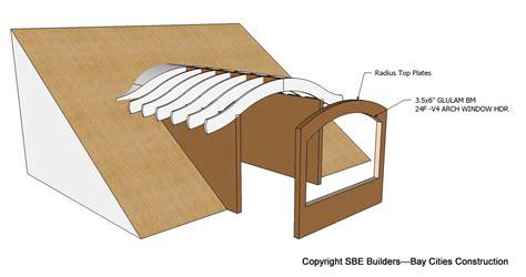 house roof structure design roof framing geometry eyebrow barrel dormer structural design house plans 30925