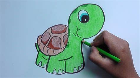 imagenes tiernas grandes dibujando y pintando a una tortuga drawing and painting