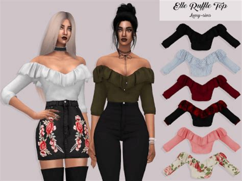 Ruffle 4 Top by Spring4sims Ruffle Top By Lumy Sims For The Sims 4