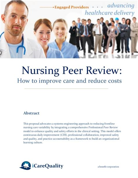 peer reviewed nursing and health care journal nursing impact factor nursing peer review to improve quality and reduce costs 2014