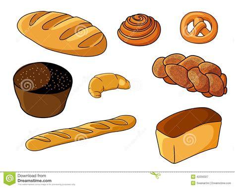 Danish Kitchen Design by Assorted Fresh Cartoon Bakery Set Stock Vector Image