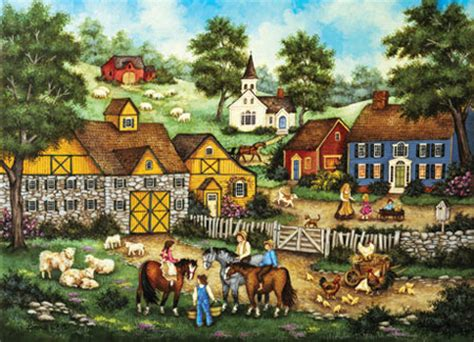 masterpieces jigsaw puzzles barnyard meeting jigsaw