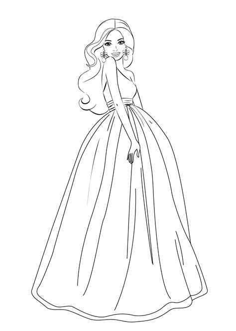 printable coloring pages of a girl barbie coloring pages for girls free printable barbie