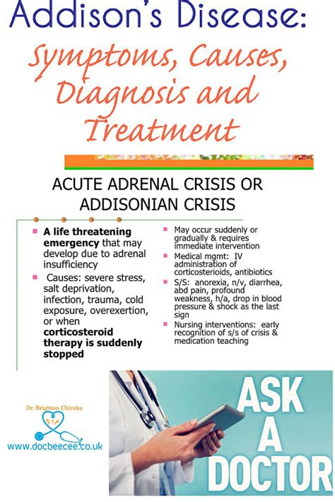 addisonian crisis what is one of the most compelling and experience that you ve had while