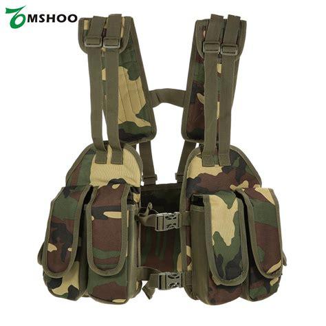 Jaket Vest Tactical Outdoor outdoor vests tactical chest rig adjustable padded modular vest mag pouch