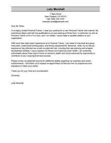 personal trainer cover letter sample my perfect cover letter