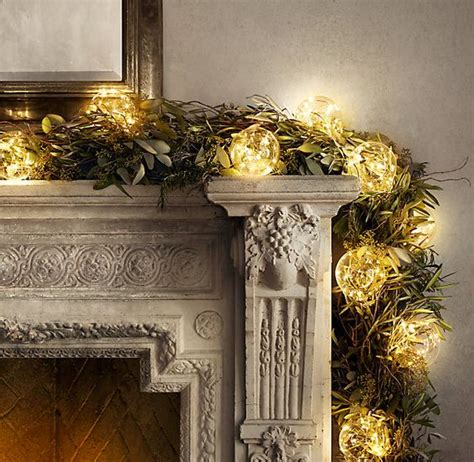 restoration hardware tree garland these lights starry glass globe string lights lights on copper wire