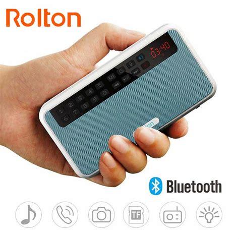Speaker Simbadda Mini Dual O rolton e500 portable stereo bluetooth speakers fm radio clear bass dual track speaker tf card