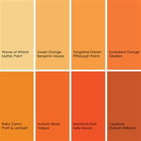 shades of orange color chart some of my favorite oranges clockwise from top left 1