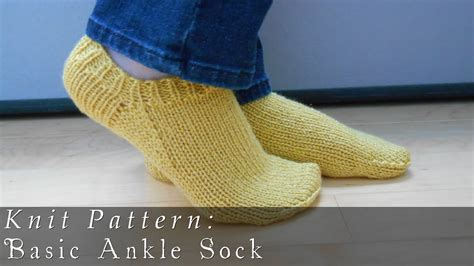 socks pattern youtube basic ankle sock knit pattern youtube