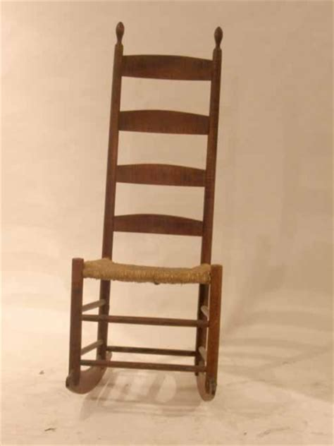 Narrow Rocking Chair tiger maple ladder back rocking chair oval finials on narrow four slat back 860137