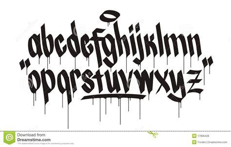 graffiti alphabet royalty  stock  image