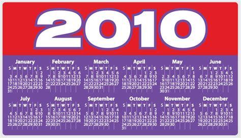Calendar For 2010 2010 Ad Calendar