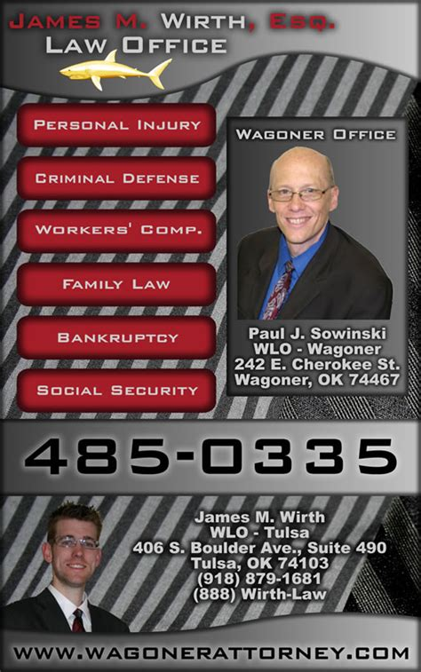 wirth office phone book advertisments 918 485 0335
