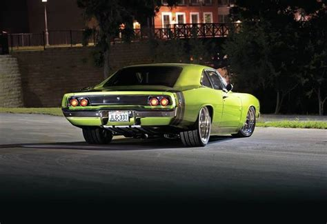 lowered muscle cars lowered old muscle car wide rear wheels and tires