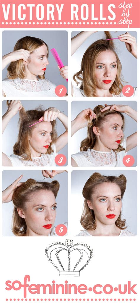 1950s step by step hairstyle how to do victory rolls step by step sofeminine