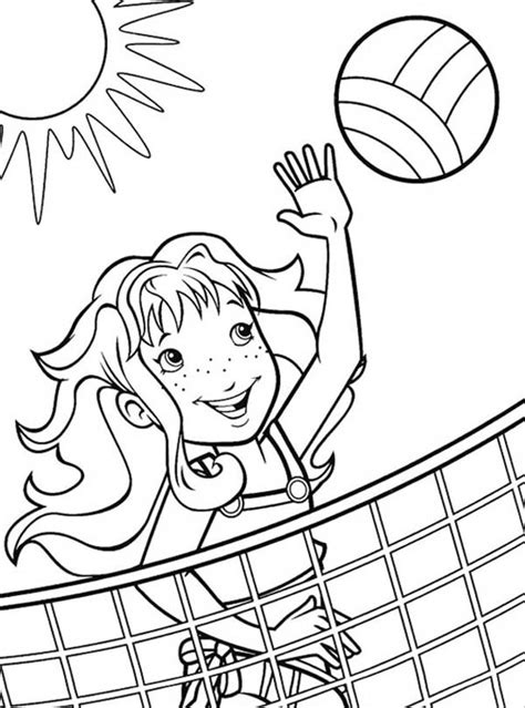 cartoon volleyball coloring page volleyball coloring pages to download and print for free
