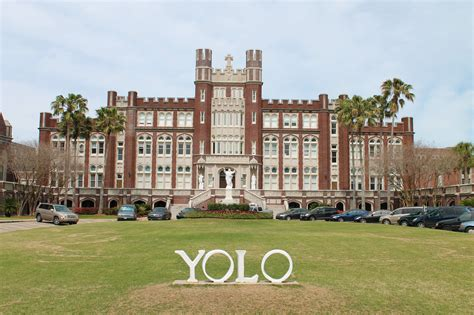 Loyno Find Loyola Students Donate Permanent Yolo Sign To Replace Loyola Letters On S