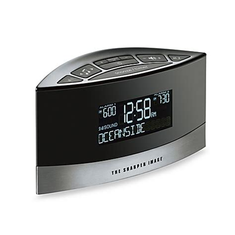 the sharper image 174 sound soother 174 alarm clock bed bath beyond