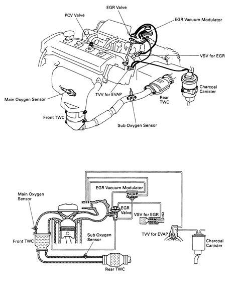 1989 Toyota Corolla Carburetor Diagram 1986 Toyota Vacuum Diagram Pictures To Pin On