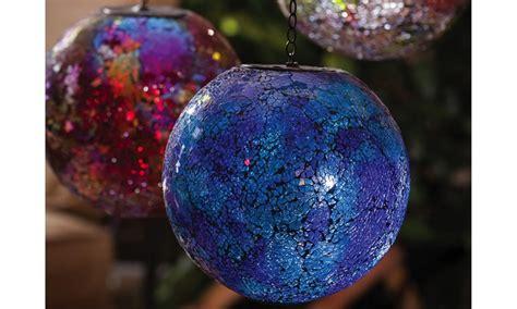 solar power hanging christmas balls solar power gazing balls groupon goods