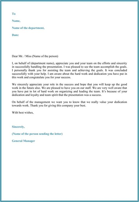 appreciation letter to all employees words of recognition for employees sle tolg