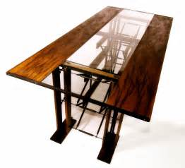 Industrial Glass Dining Table Made Custom Contemporary Industrial Eclectic Dining Table By Interactive Dezigns