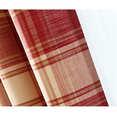 red plaid curtain panels simple red plaid country curtains linen and cotton