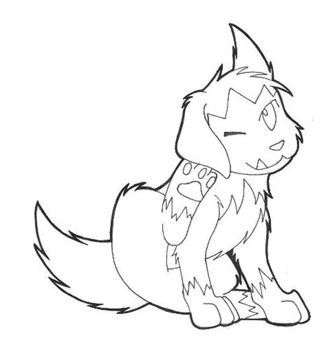 pokemon coloring pages poochyena poochyena line art by mikiri tsukiyo on deviantart