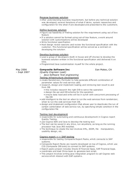 100 testing profile resume software engineer cv exles and template exles of