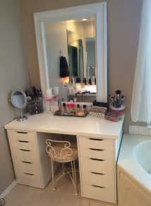 Makeup Vanity On Makeup Vanity Table Furniture Set In White Color With