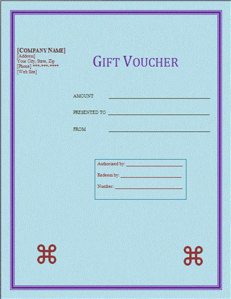 gift voucher template free microsoft word templates