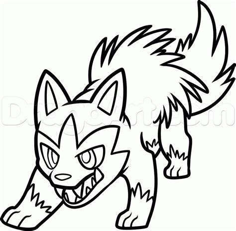 pokemon coloring pages poochyena how to draw poochyena step by step pokemon characters