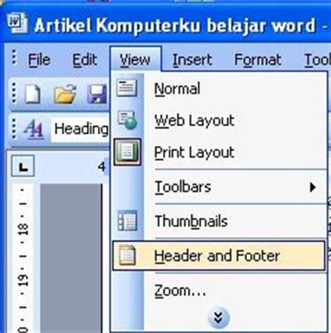 cara membuat catatan kaki word 2003 cara membuat catatan kaki di word 2003 footer word 2003