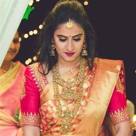 on pinterest saree blouse south indian bride and bridal sarees bridal saree blouse embroidery telugu bride tamil bride