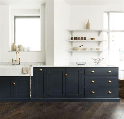bella brass hardware  pantry blue paint