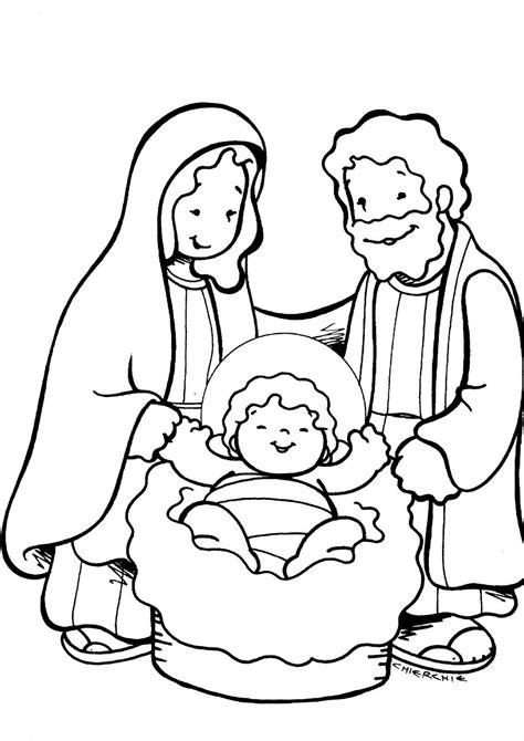 imagenes de jesus jose y maria para colorear pesebre para colorear