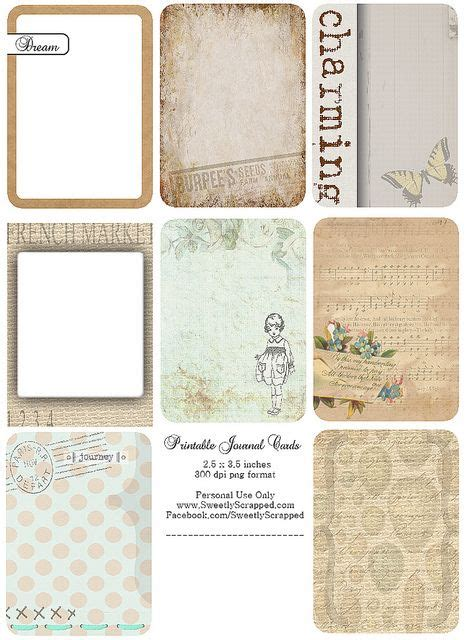 free printable journal labels free printable journal cards printables pinterest