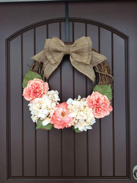 spring door wreath diy door wreath  easy
