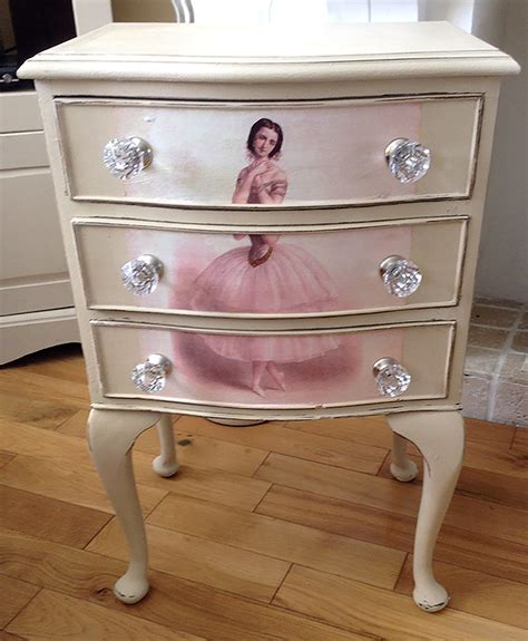 Decoupage Dresser - decoupaged ballerina dresser tutorial the graphics