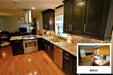 Kitchen Cabinet Refinishing Before And After | cabinet refacing gallery cabinets kitchen and bathroom