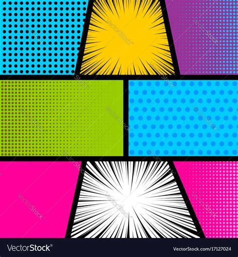 Stripe Pop pop comic book background royalty free vector