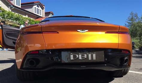 orange aston martin orange aston martin db11 revs best sounding aston martin yet
