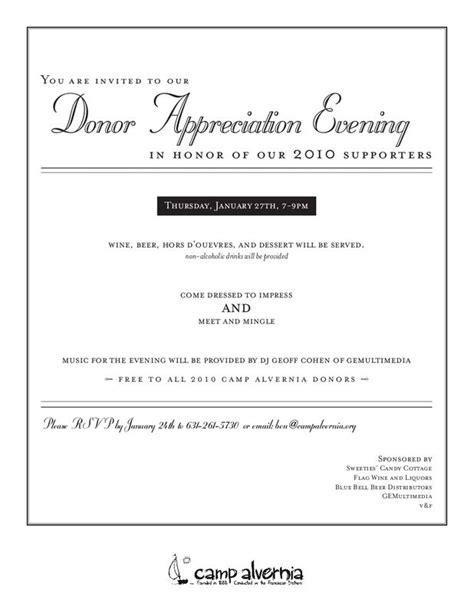 appreciation letter invitation donor appreciation invitation invitations