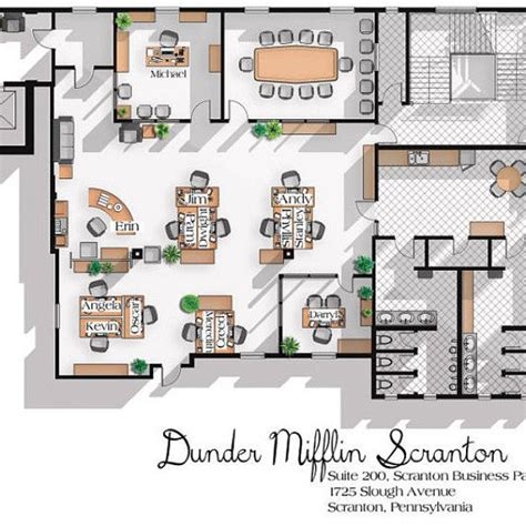dunder mifflin floor plan 1000 ideas about office floor plan on pinterest office