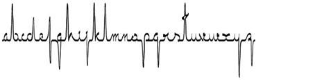 tattoo font ecg ekg font http www searchfreefonts com free ecgsaji htm