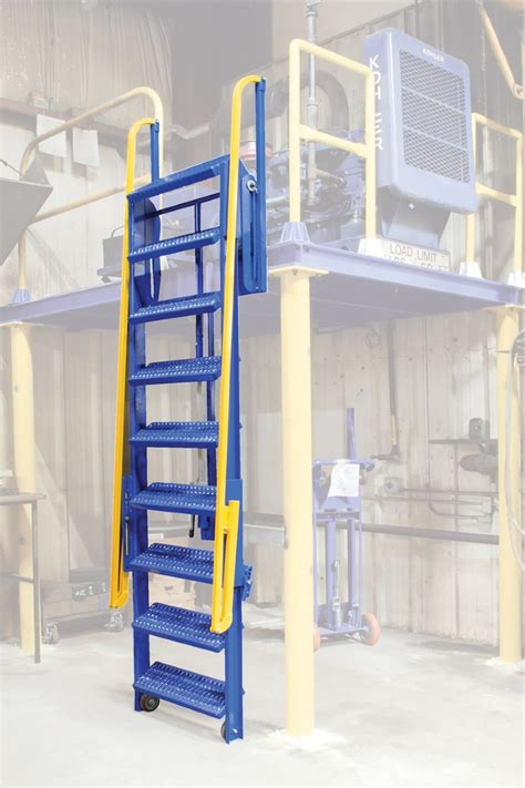 foldable stairs 9 step folding mezzanine ladders 9 step mezzanine ladders